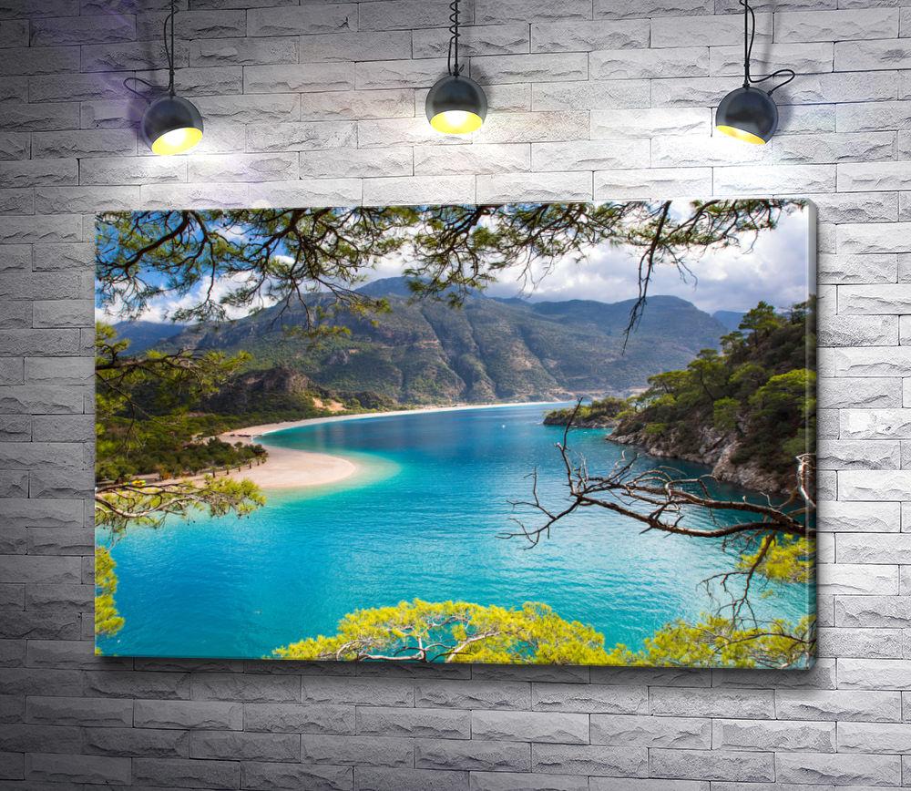 "Картина ""Панорама Мальорки. Средиземное море, Испания"""