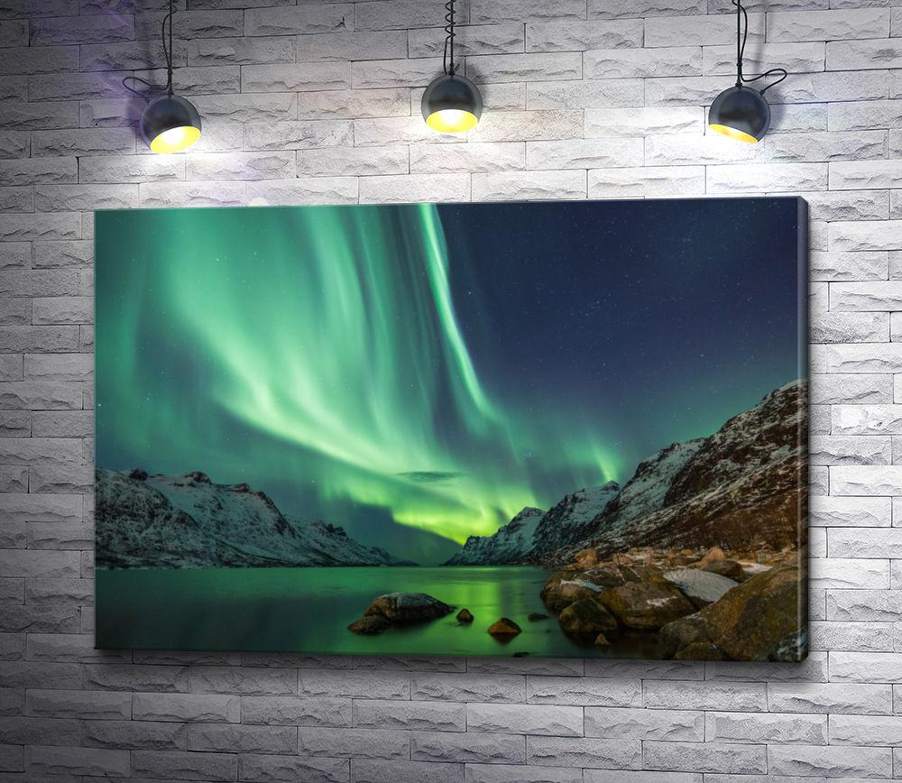 """Картина """"Северное сияние в Норвегии"""""""