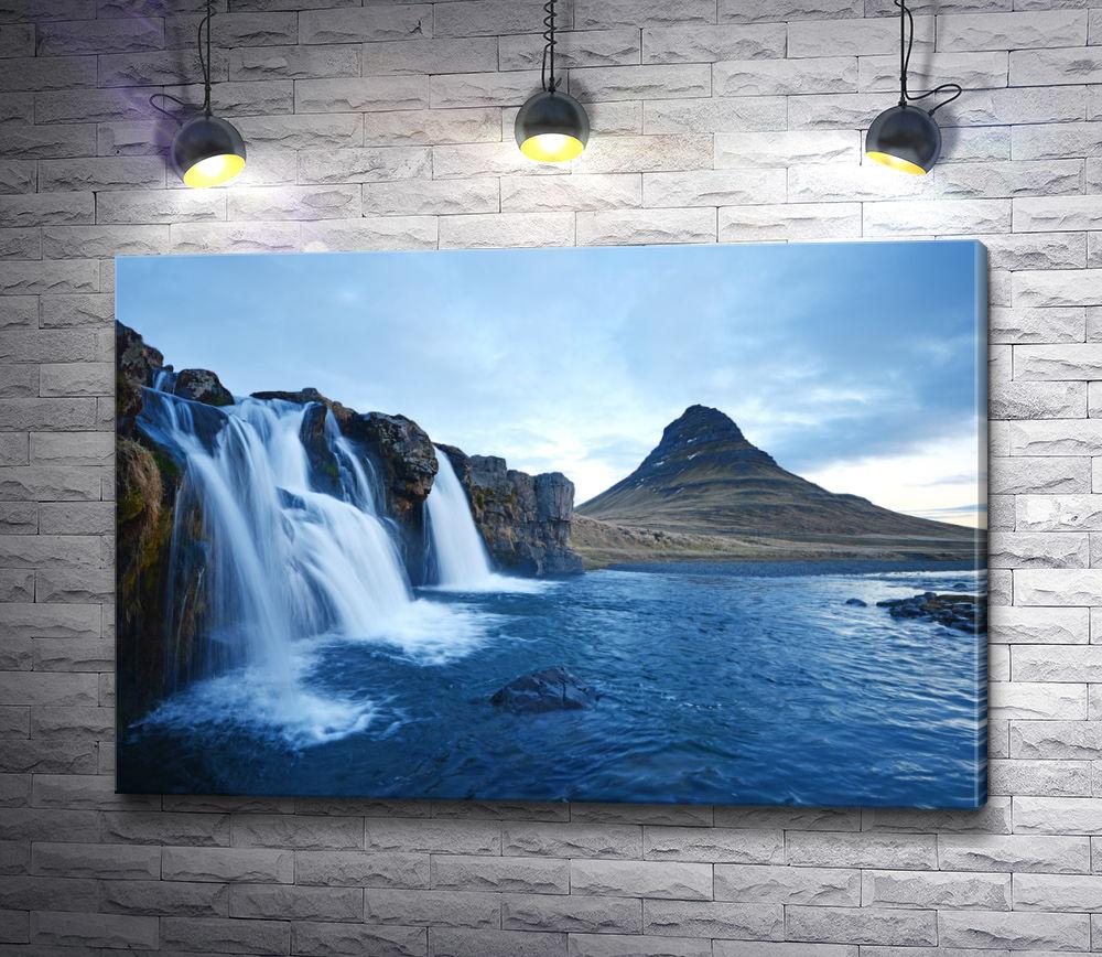 """Картина """"Водопады на вулканическом полуострове в Исландии"""""""