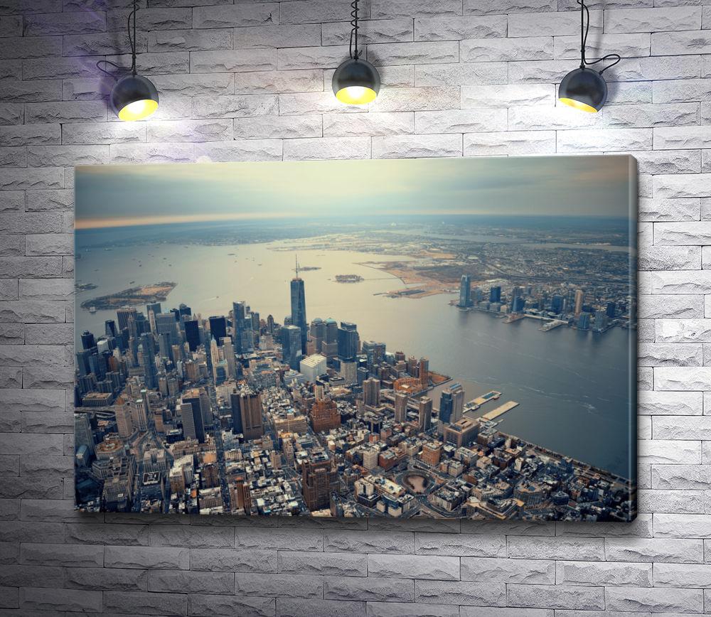 "Картина ""Панорама утреннего Нью-Йорка"""