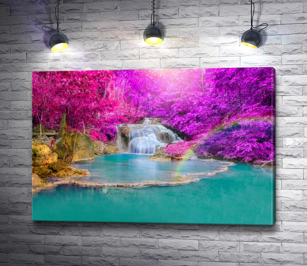 """Картина """"Каскадный водопад в национальном парке, Таиланд"""""""
