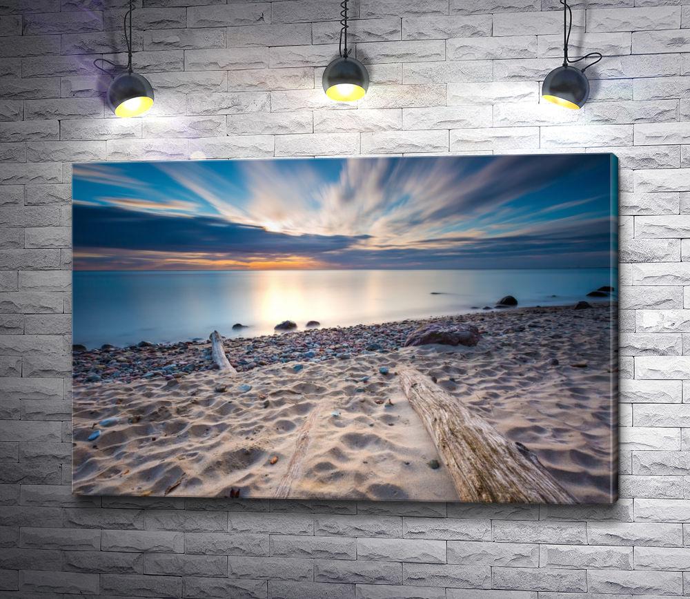 """Картина """"Песчаный пляж на рассвете"""""""