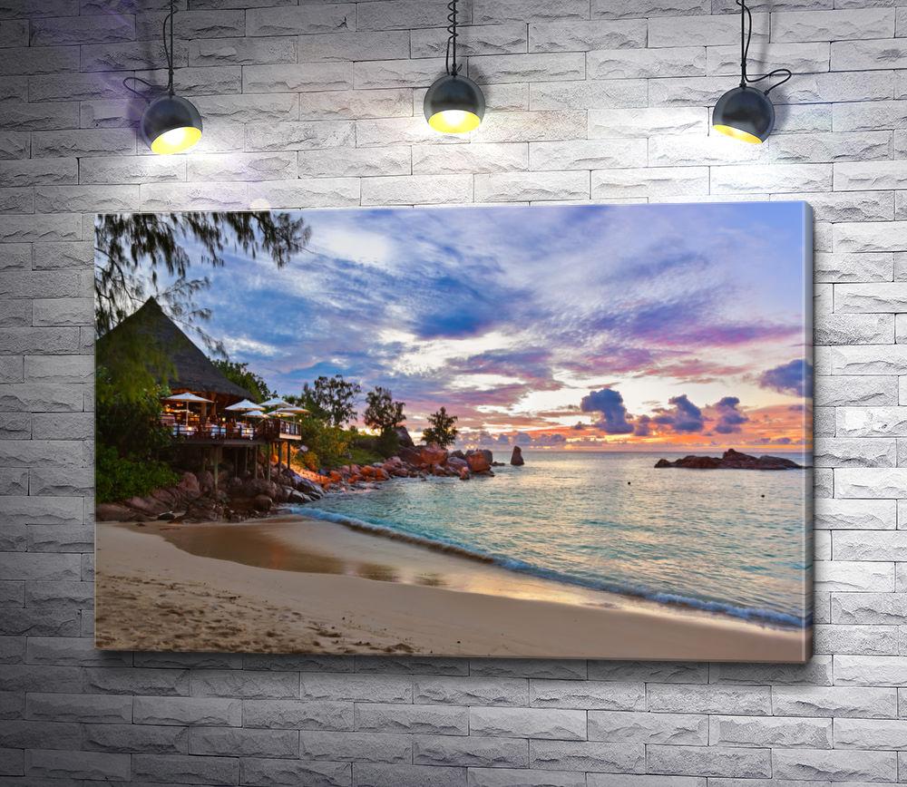 """Картина """"Туристическое побережье Сейшельских островов"""""""