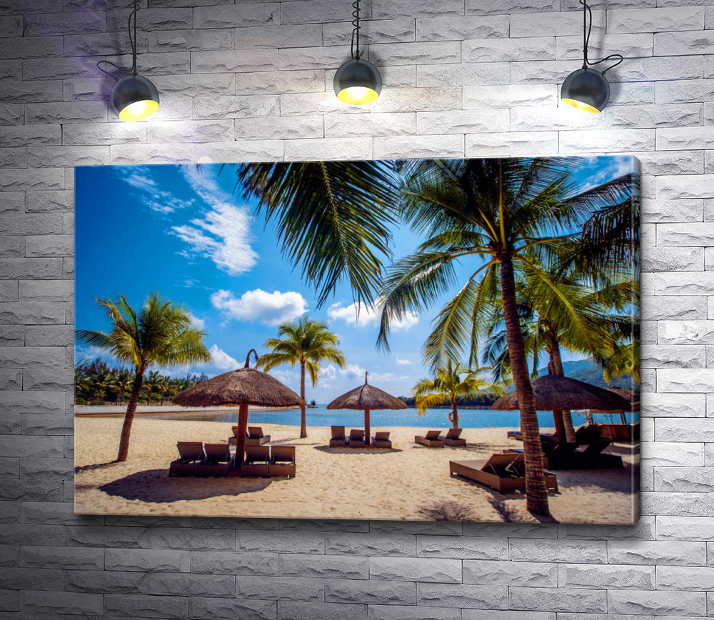 """Картина """"Солнечный пляж в Майами"""""""