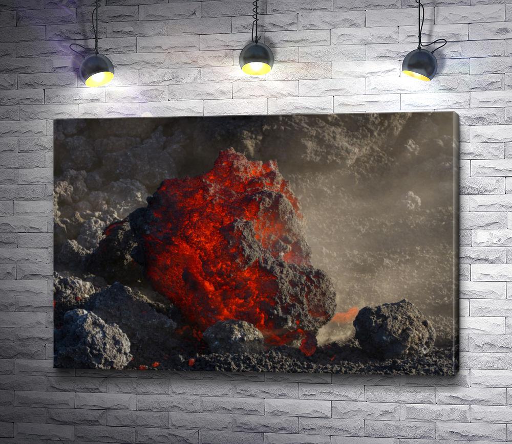 """Картина """"Каменная глыба вулканического происхождения"""""""