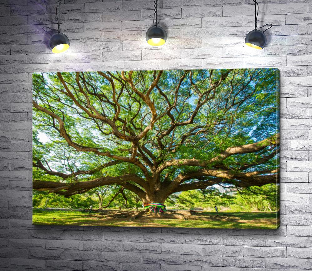 """Картина """"Большое зеленое дерево счастья"""""""