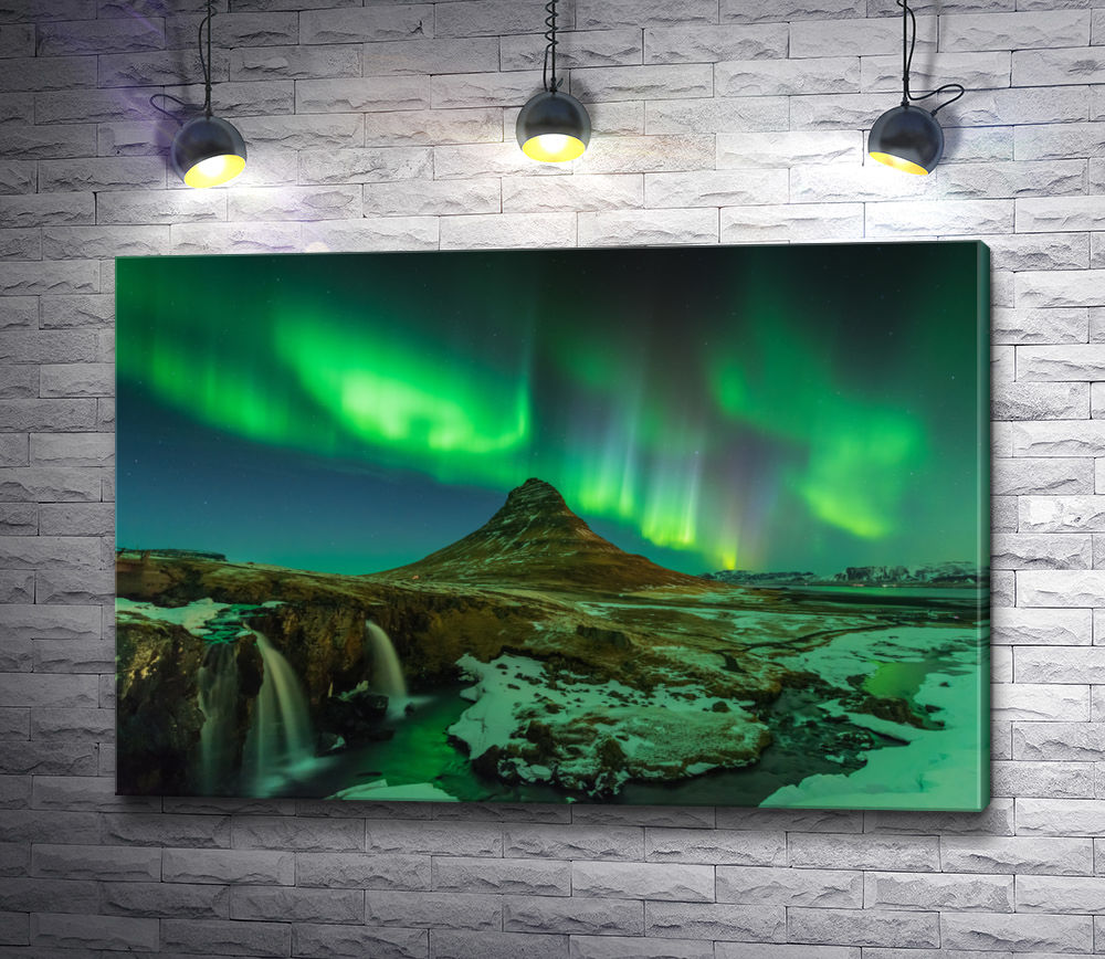 """Картина """"Северное сияние в Исландии"""""""