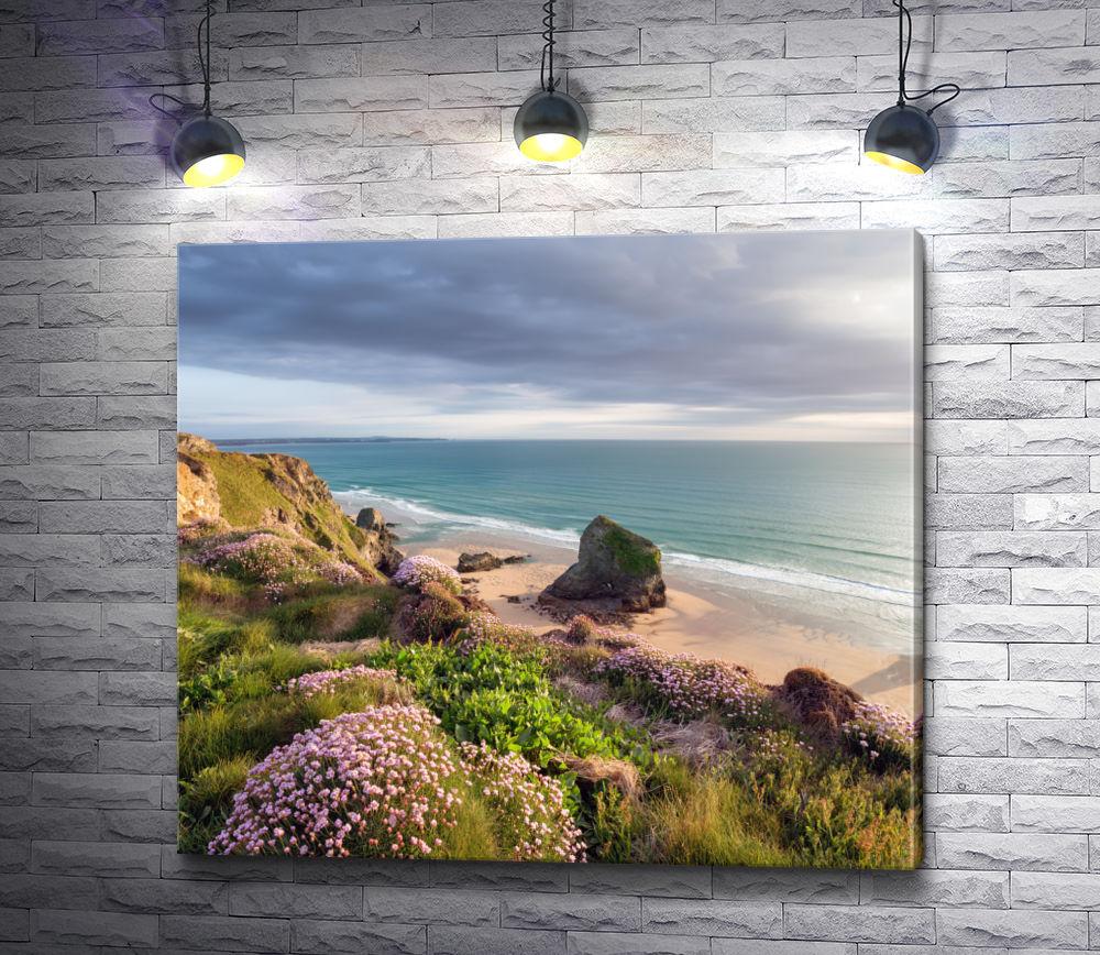 """Картина """"На морском берегу перед дождем"""""""