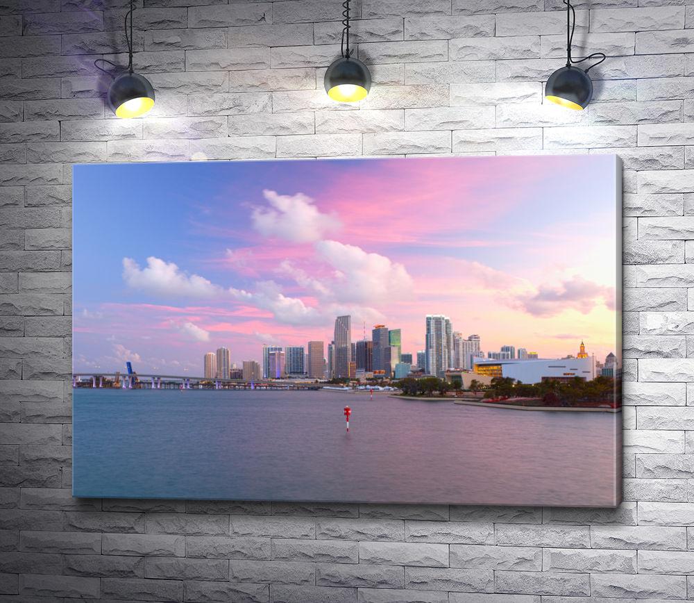 "Картина ""Вид на Майами-Центр. Флорида, США"""
