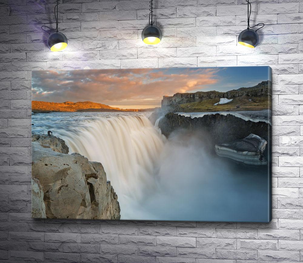 """Картина """"Деттифосс - самый мощный водопад в Европе"""""""