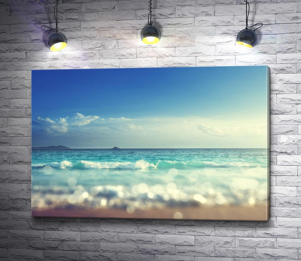 """Картина """"Вид на море с песка"""""""