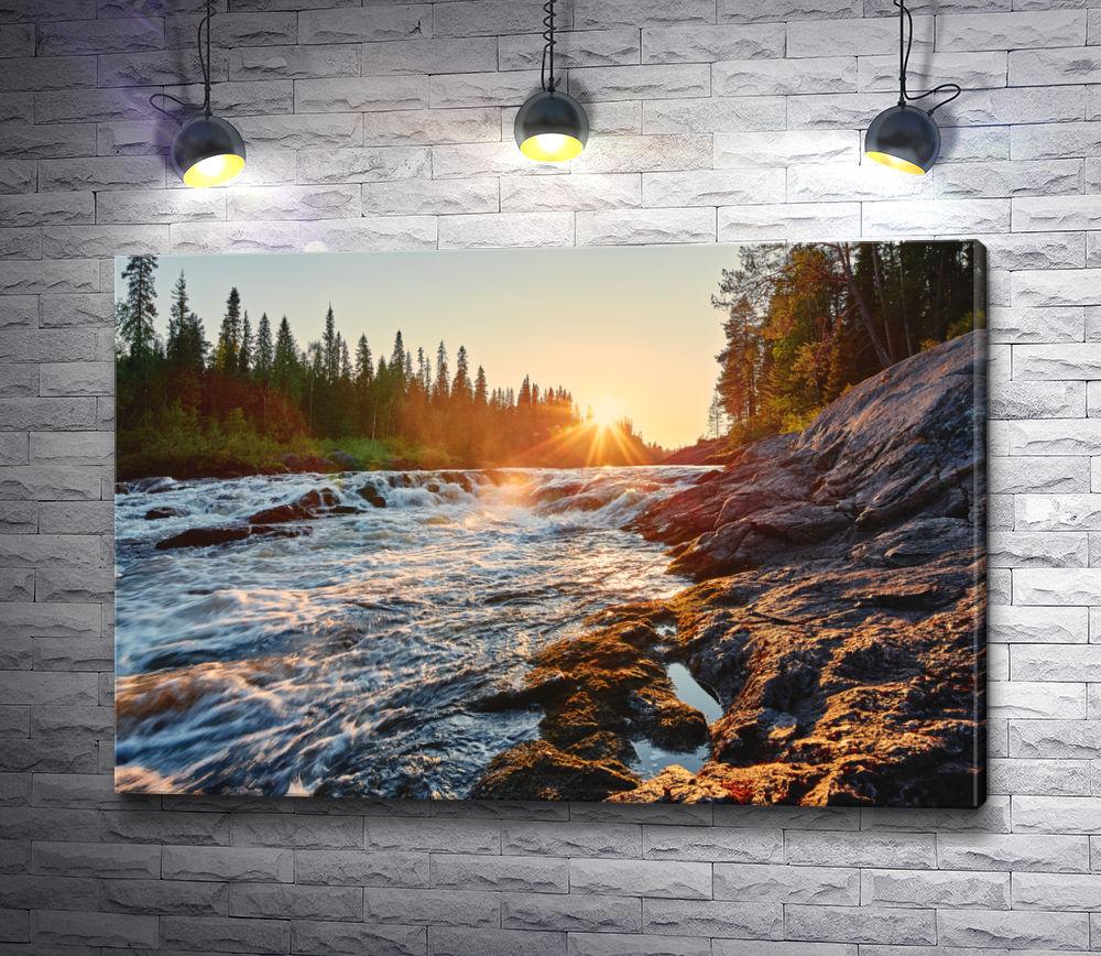"""Картина """"Пороги на реке. Карелия"""""""