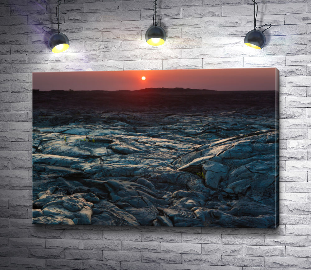 "Картина ""Закат над Гавайскими вулканами"""