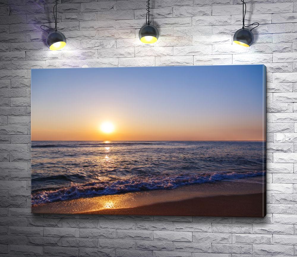 """Картина """"Закат на морском побережье"""""""