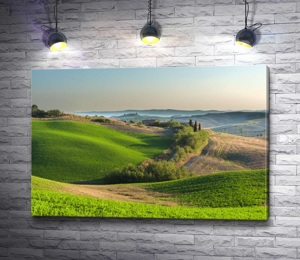 """Картина """"Зеленый ландшафт в Тоскане. Италия"""""""