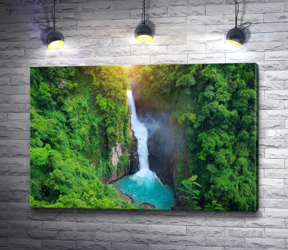 """Картина """"Ландшафт с водопадом. Таиланд"""""""