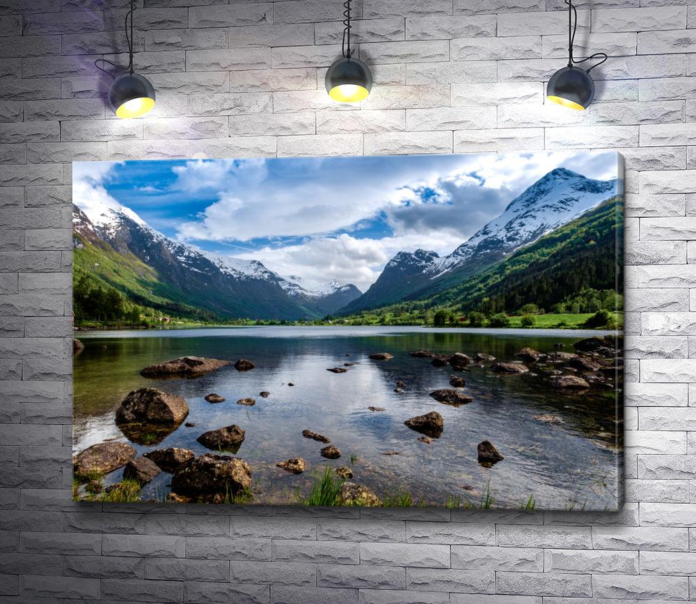 """Картина """"Ландшафт с горным озером"""""""