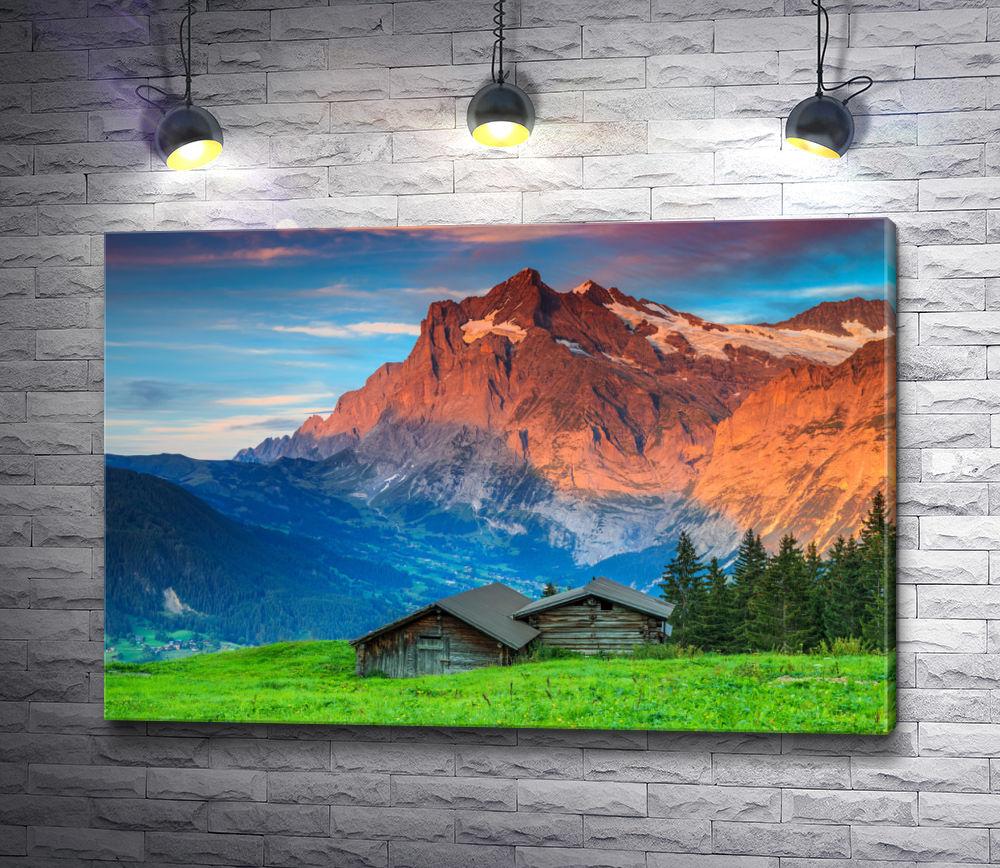 """Картина """"Домики в Швейцарских горах"""""""