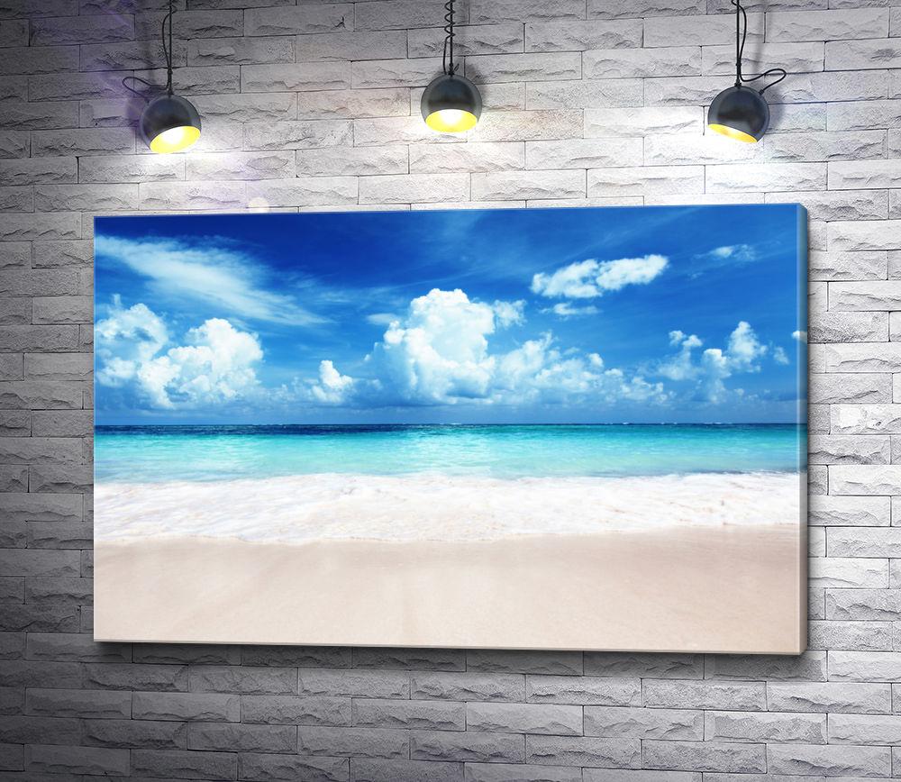 """Картина """"Голубая лагуна на карибском побережье"""""""