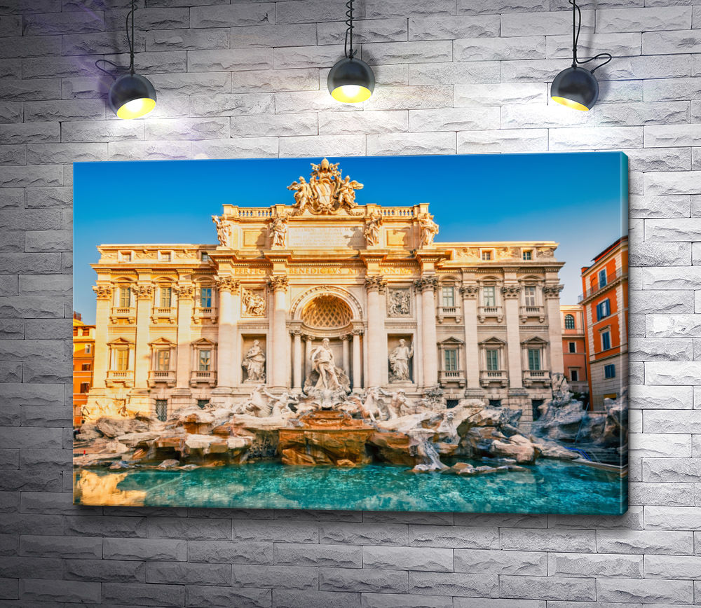 """Картина """"Фонтан Треви на фоне палацо Поли. Рим, Италия"""""""