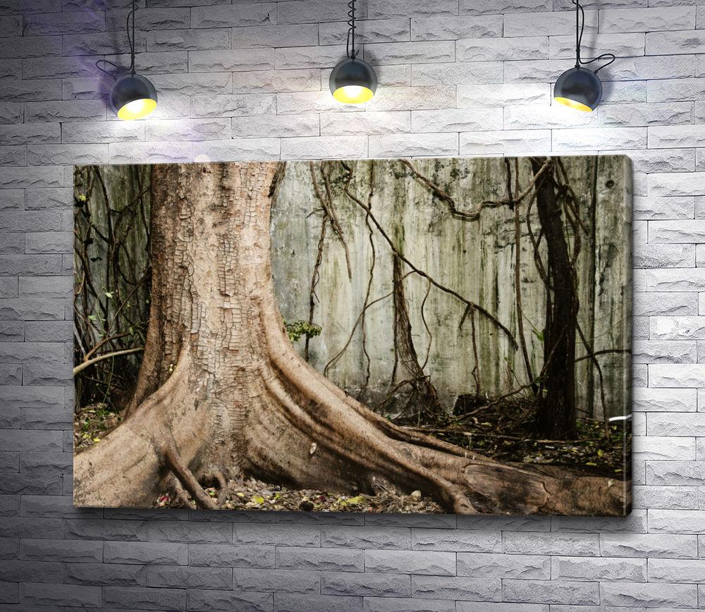 """Картина """"Старое дерево в туманном лесу"""""""