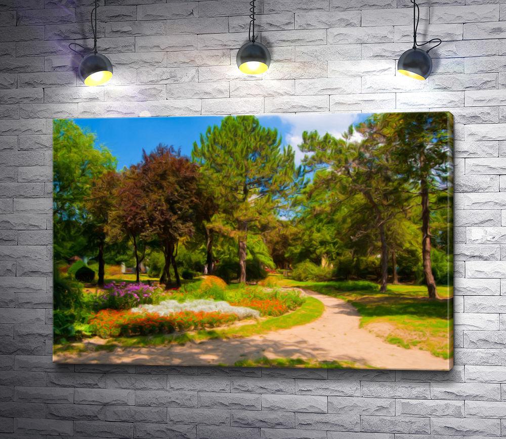 """Картина """"Прогулочная дорожка в летнем парке"""""""