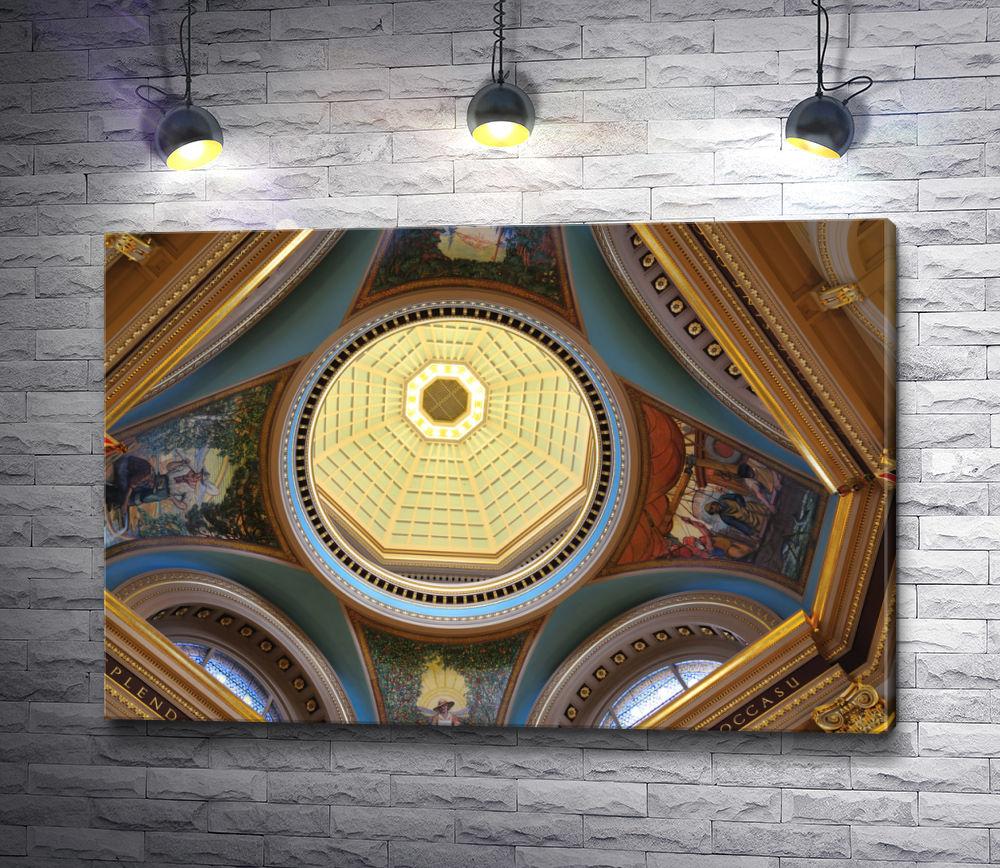 """Картина """"Расписной купол в храме"""""""