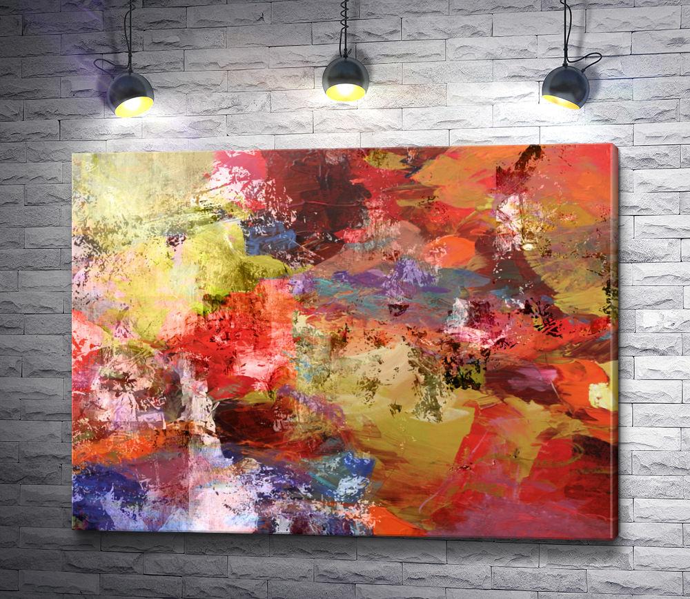 """Картина """"Оригинальная абстракция в красных тонах"""""""