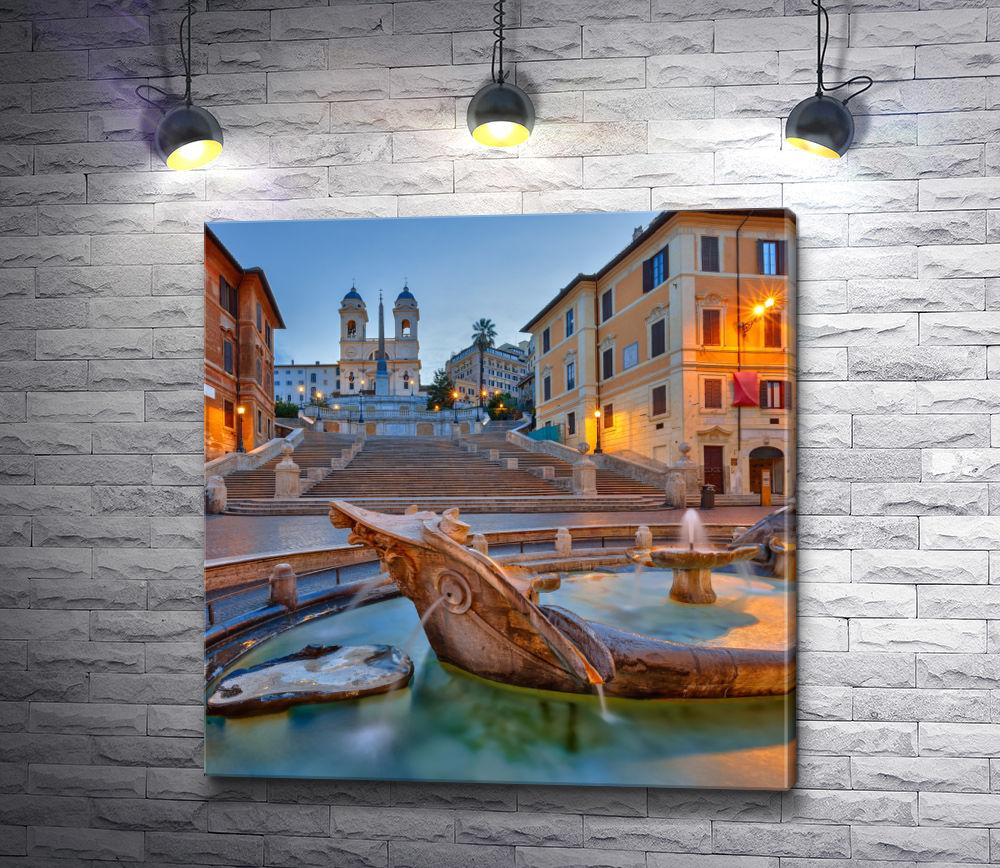 """Картина """"Испанская лестница в Риме"""""""