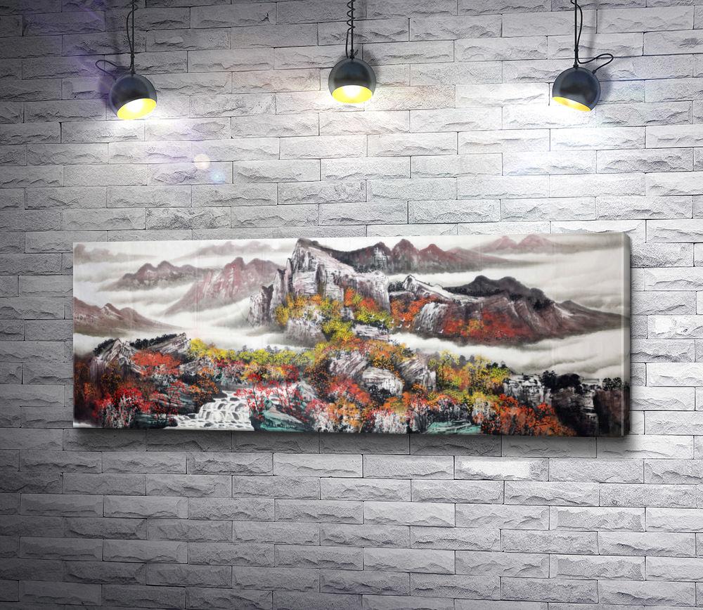 """Картина """"Японский горный пейзаж"""""""