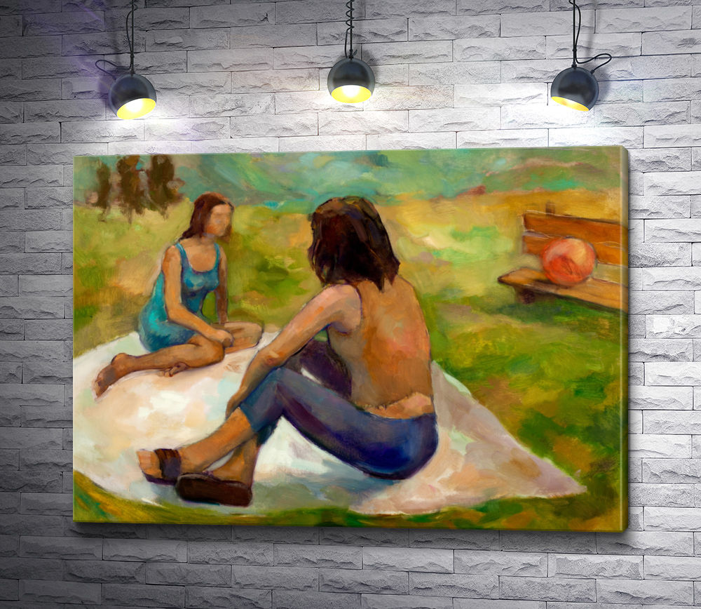 "Картина ""Две женщины на пикнике"""