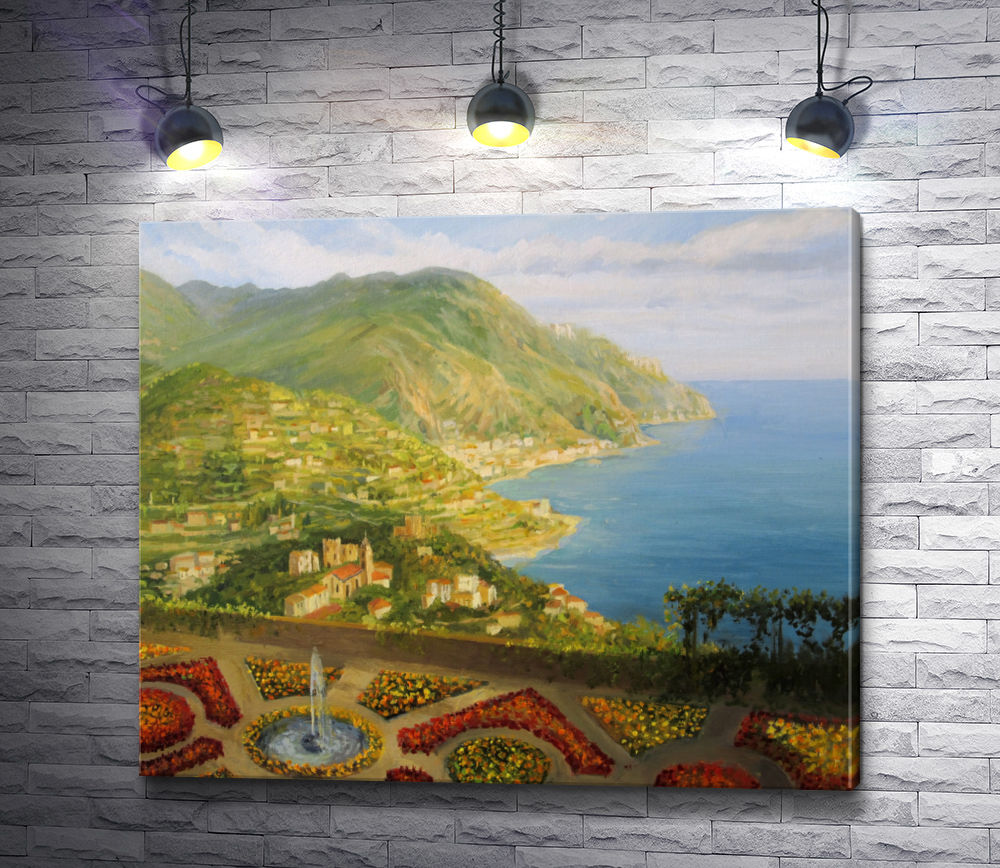 "Картина ""Вид на побережье с Виллы Руфоло. Равелло, Италия"""