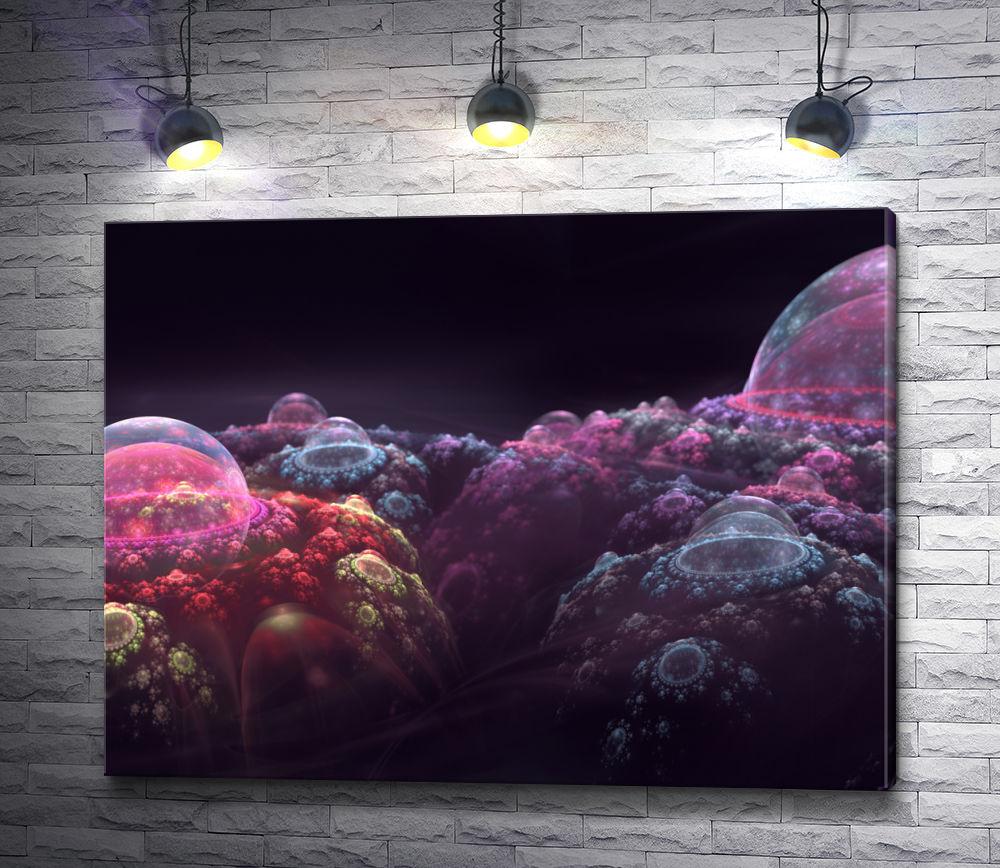 """Картина """"Фиолетовые фракталы"""""""