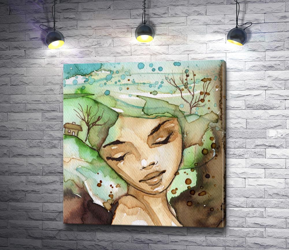 """Картина """"Африканская богиня весны"""""""