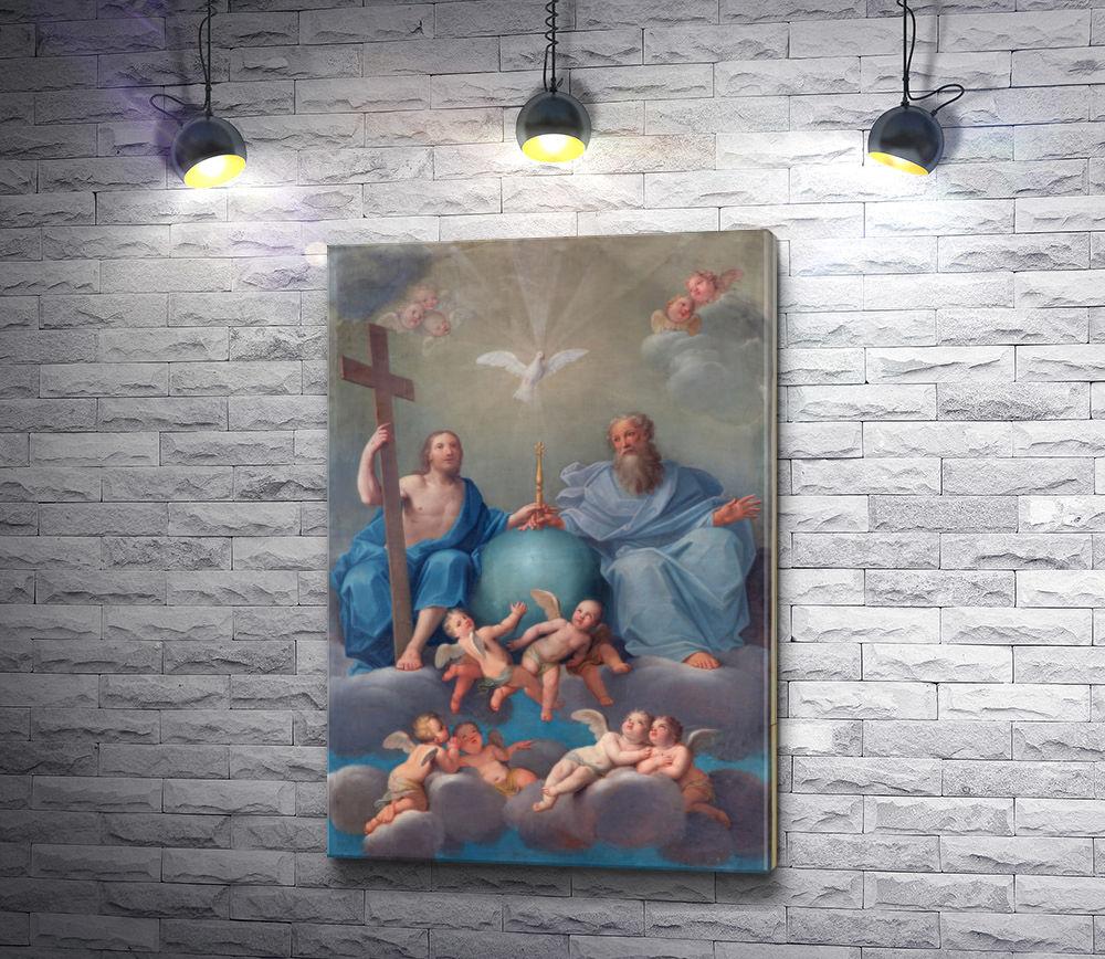 """Картина """"Фреска: Святая троица,  Болонья,  Италия """""""