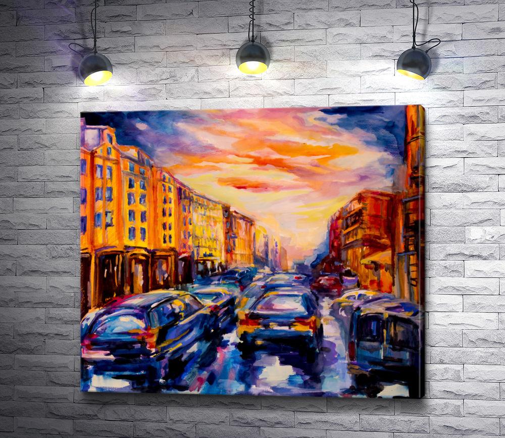 """Картина """"Ночная жизнь Вены """""""