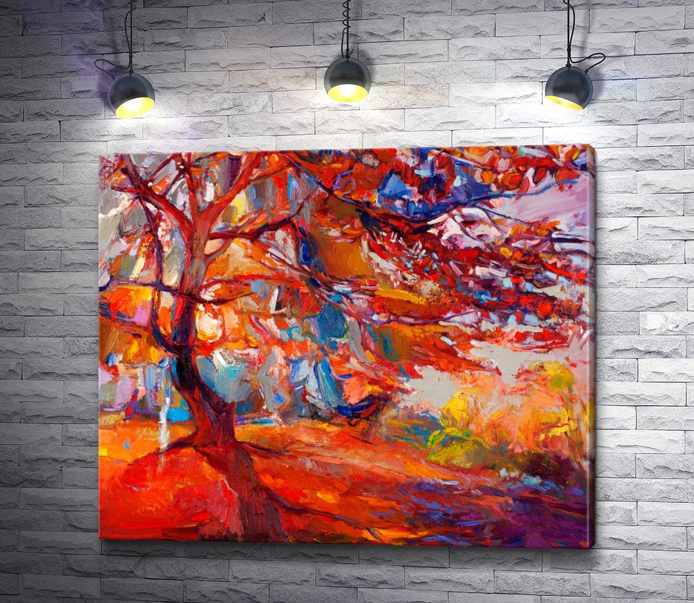 """Картина """"Ивайло Николов """"Осеннее дерево"""""""""""
