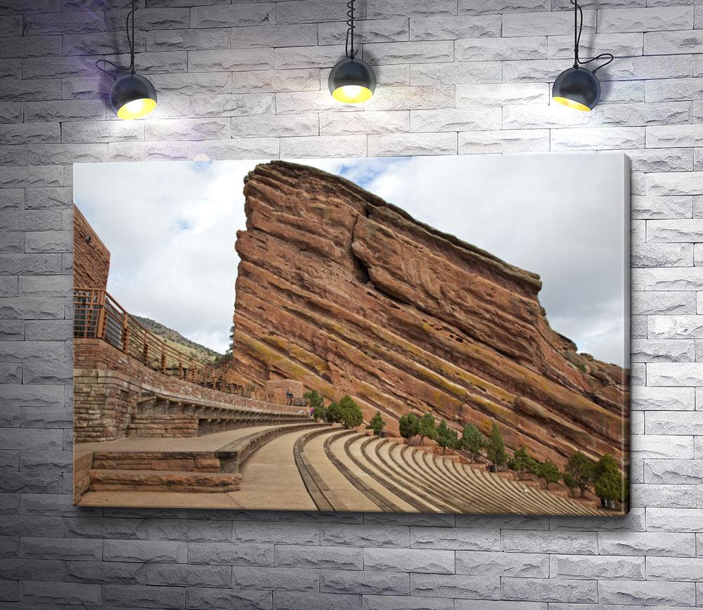 """Картина """"Исторический амфитеатр Красные скалы вблизи Денвера, Колорадо"""""""