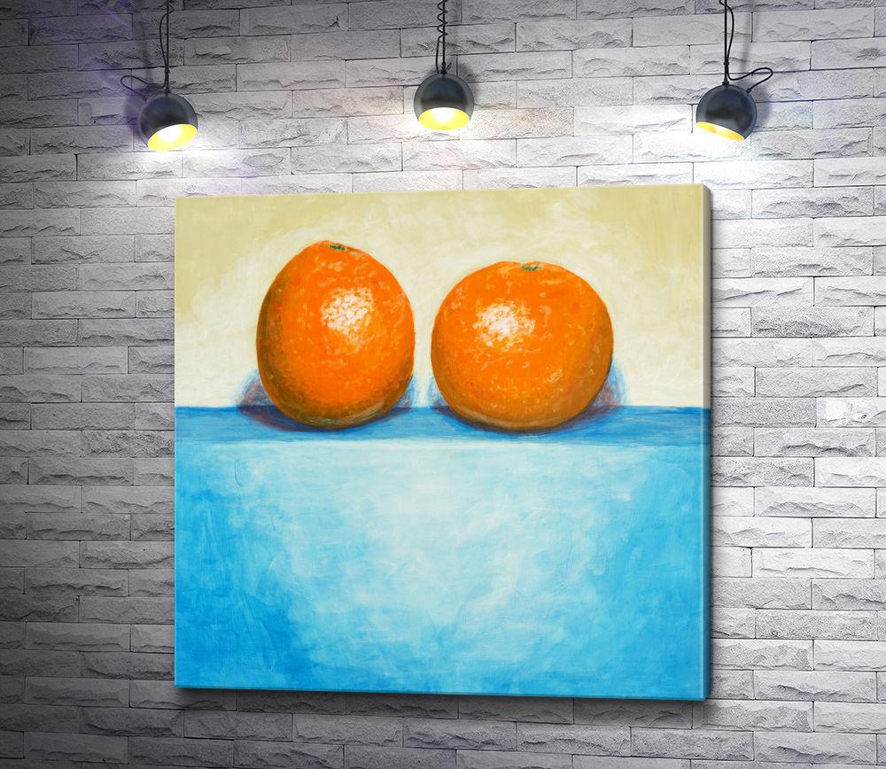 "Картина ""Натюрморт. Два апельсина """