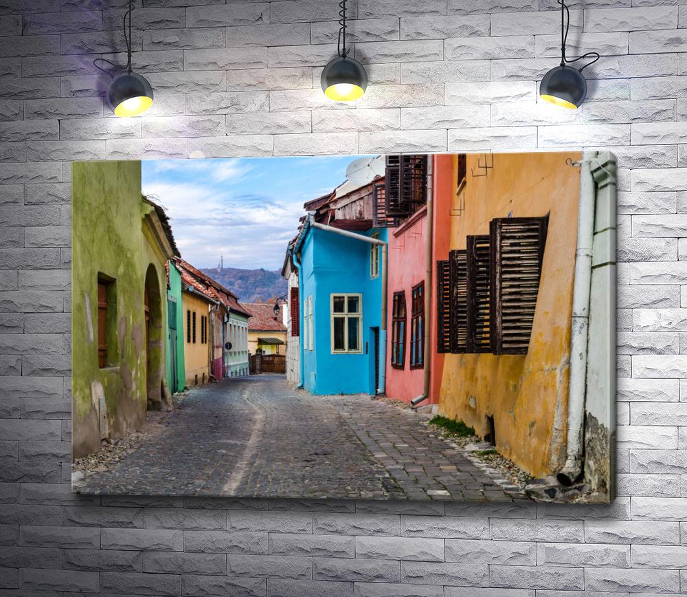 """Картина """"Красочная улочка в Трансильвании, Румыния"""""""