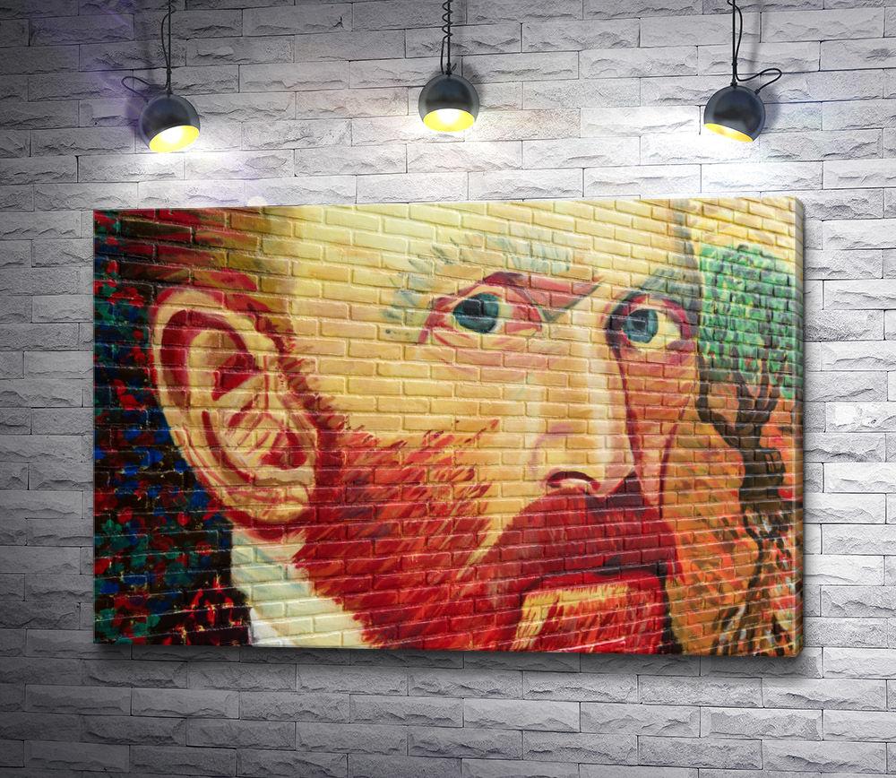 """Картина """"Ван Гог - граффити на стене"""""""