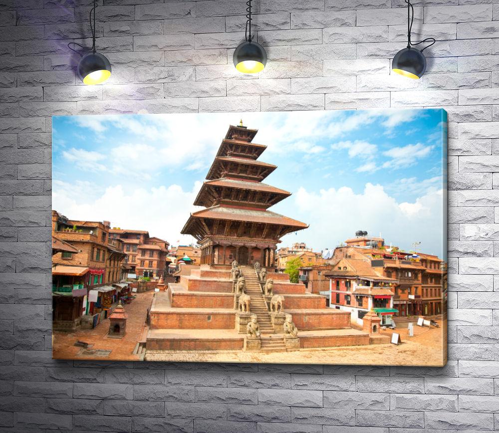 "Картина ""Архитектура на площади Катманду,  Непал"""