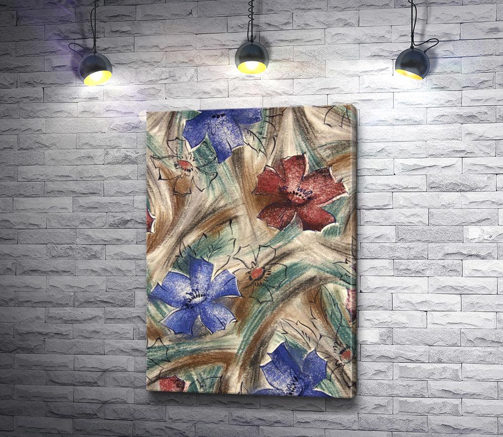"""Картина """"Разноцветные цветы """""""