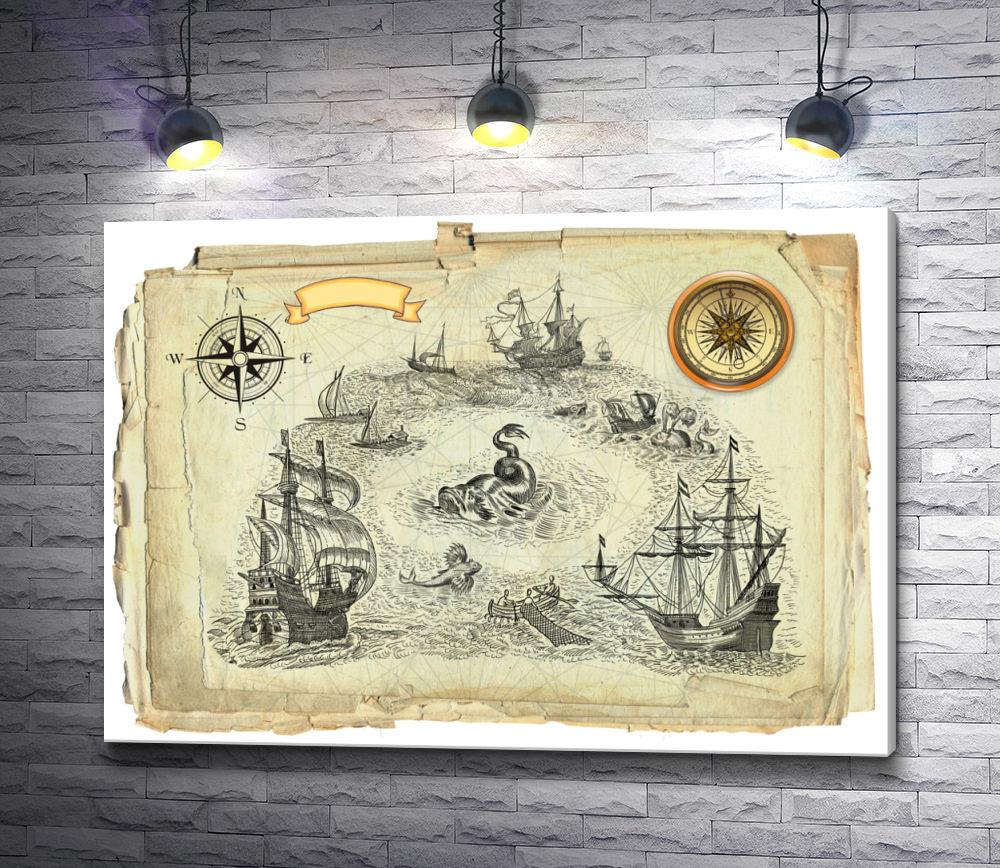"""Картина """"Пиратская карта """""""