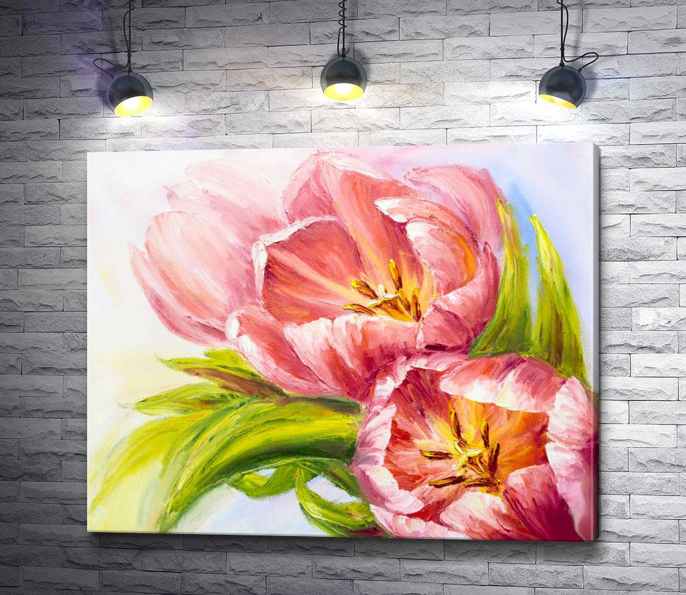 """Картина """"Тюльпаны,  картина маслом """""""