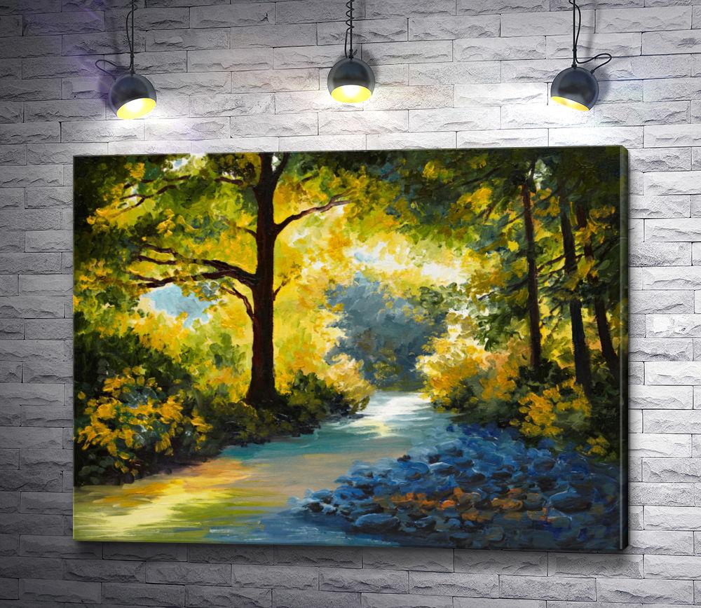 """Картина """"Ручей в лесу """""""