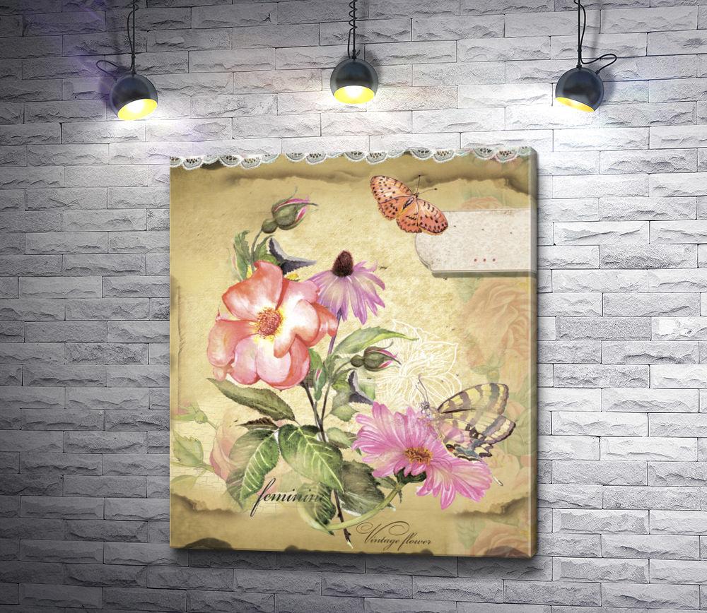"""Картина """"Винтажные цветы"""""""
