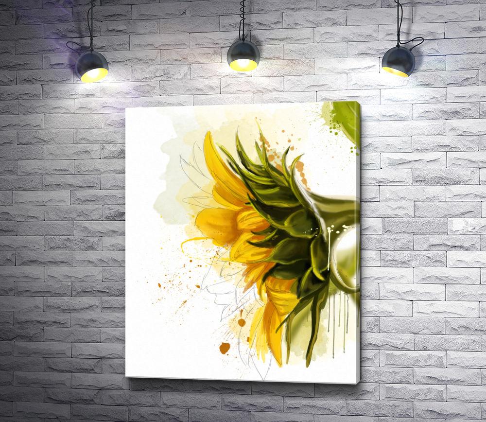 """Картина """"Цветущие подсолнухи """""""