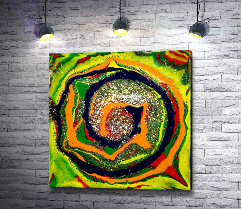 """Картина """"Разноцветная спираль """""""