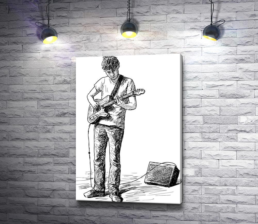 """Картина """"Уличный музыкант """""""